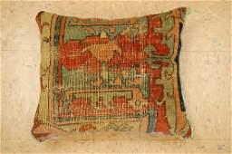 Fine Antique Heris Serapi Rug Wool Pillow 1.4x1.7