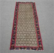 Hand Woven Vintage Persian Sarab Rug 9.5x3.10