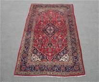 Hand Woven Vintage Persian Kashan Rug 8.10x4.10