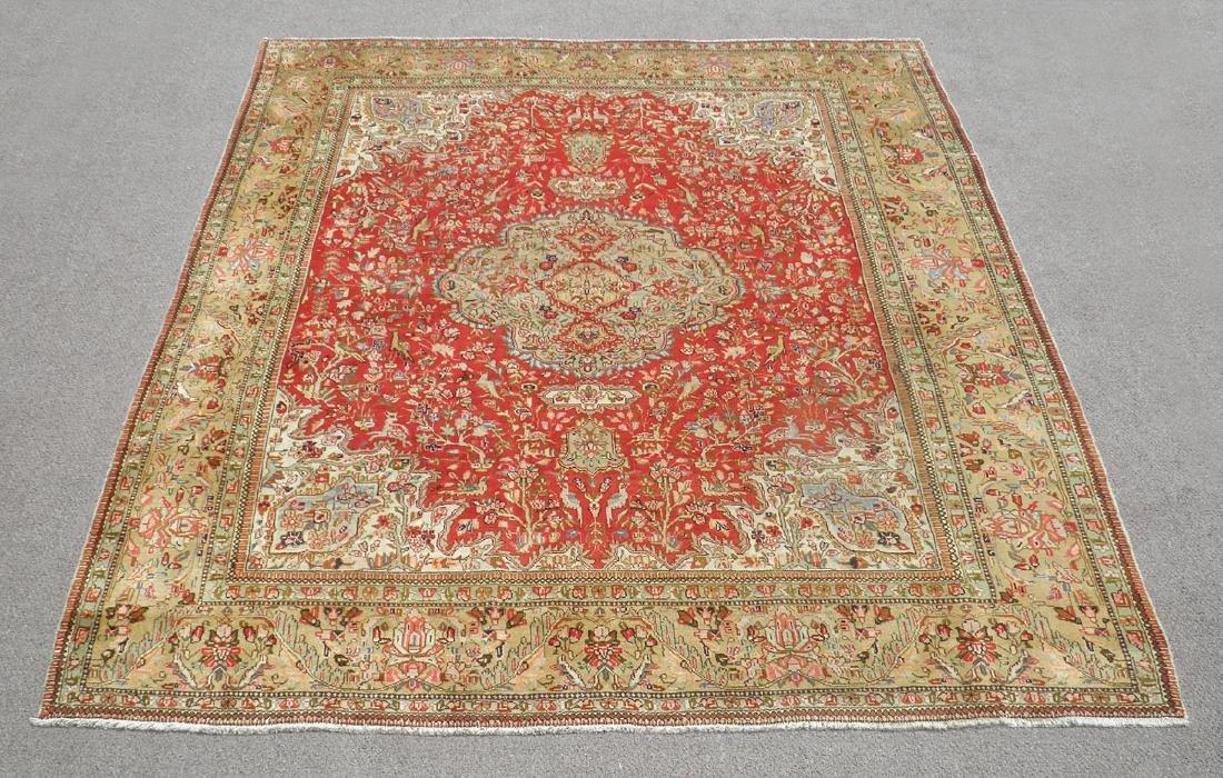 Authentic Vintage Persian Tabriz Tabatabaei Rug 9.6x8.3