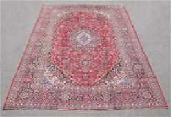 Hand Woven Vintage Persian Kashan Rug 13.2x9.7