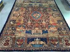 Vintage Persian Kashmar Masterpiece Rug 10x13.3