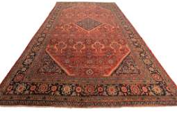 Antique Persian Mahal Sultanabad Geometric Rug 11x17