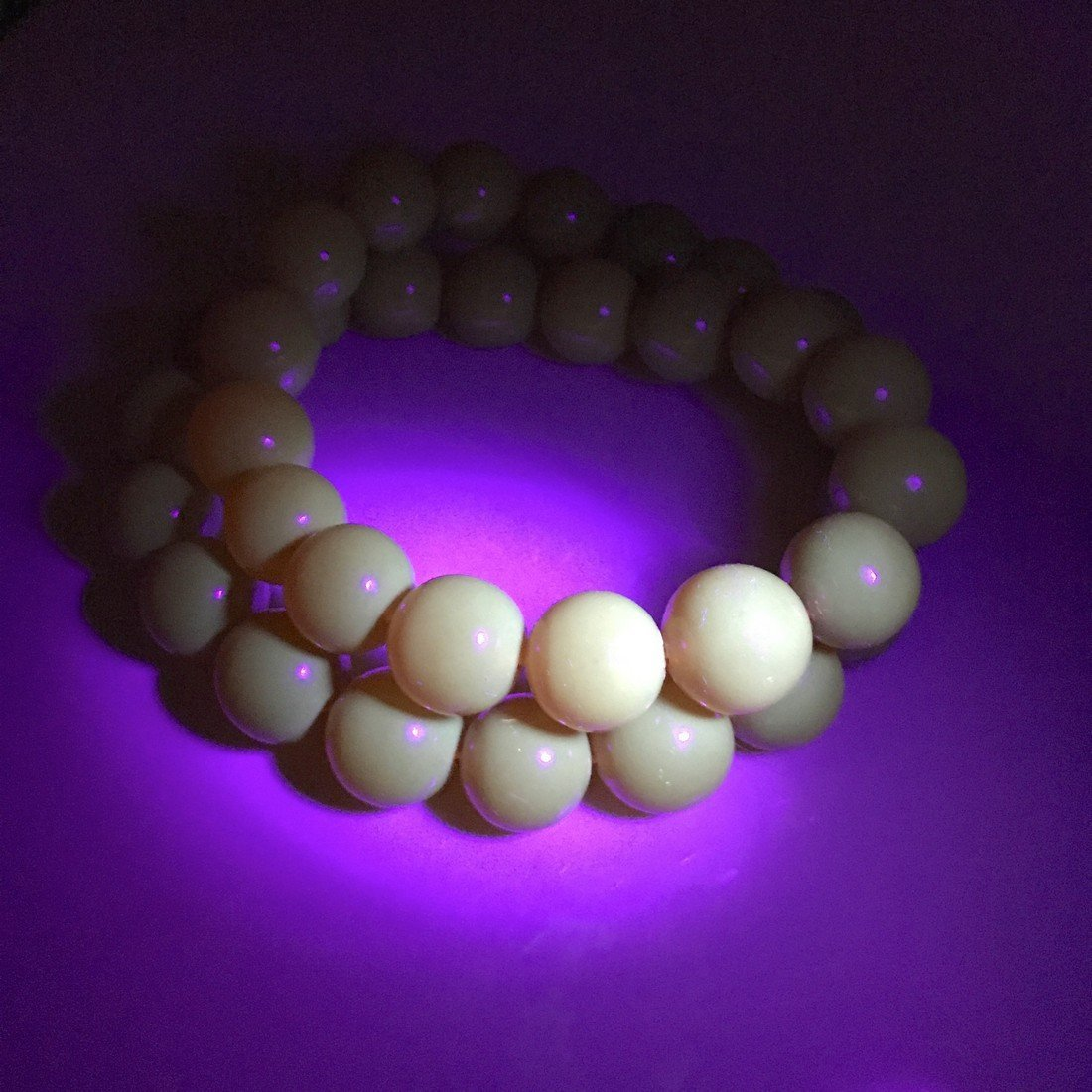 Old large art deco Baltic amber necklace beads - 10