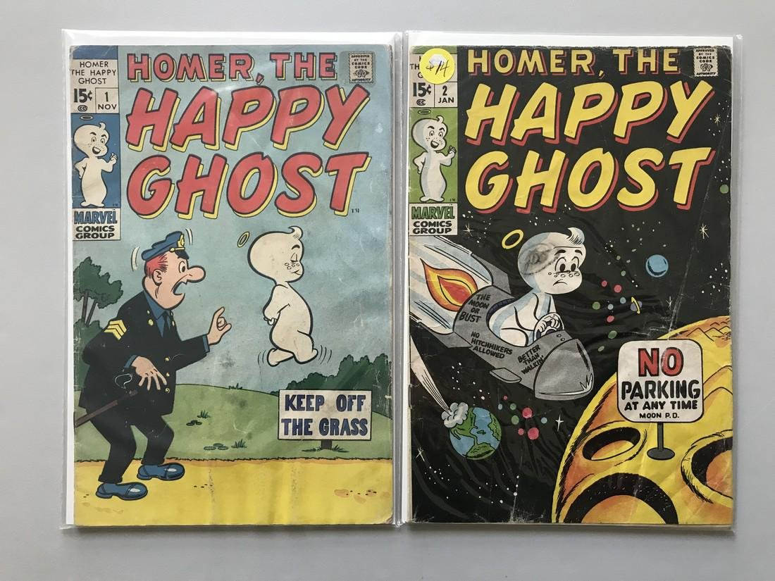 Lot of 2 Homer the Happy Ghost (1969) #1 2