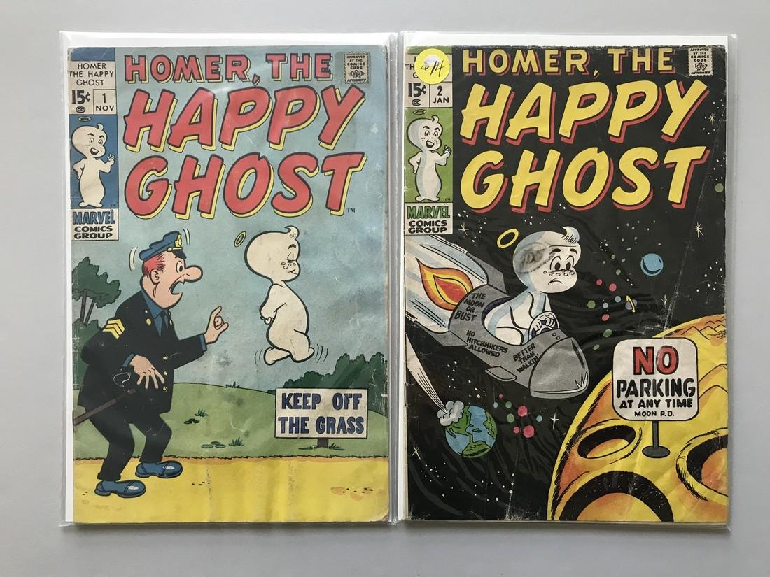 Lot of 2 Homer the Happy Ghost (1969) #1 2 - 2