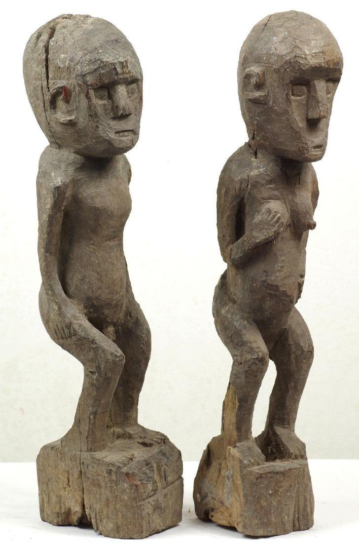 Old Ancestor Figure Pair West Timor Indonesia - 2