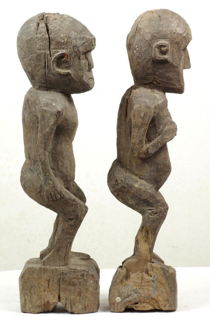 Old Ancestor Figure Pair West Timor Indonesia - 3