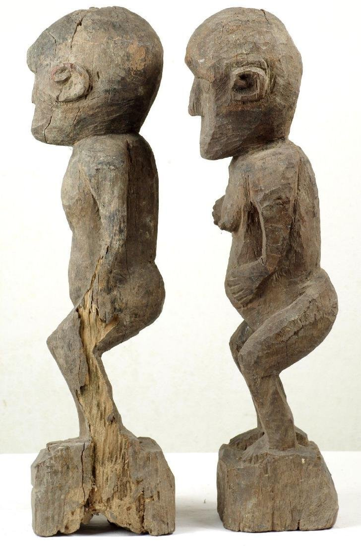 Old Ancestor Figure Pair West Timor Indonesia - 4