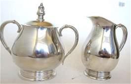 International Silver Royal Danish Creamer & Sugar Set