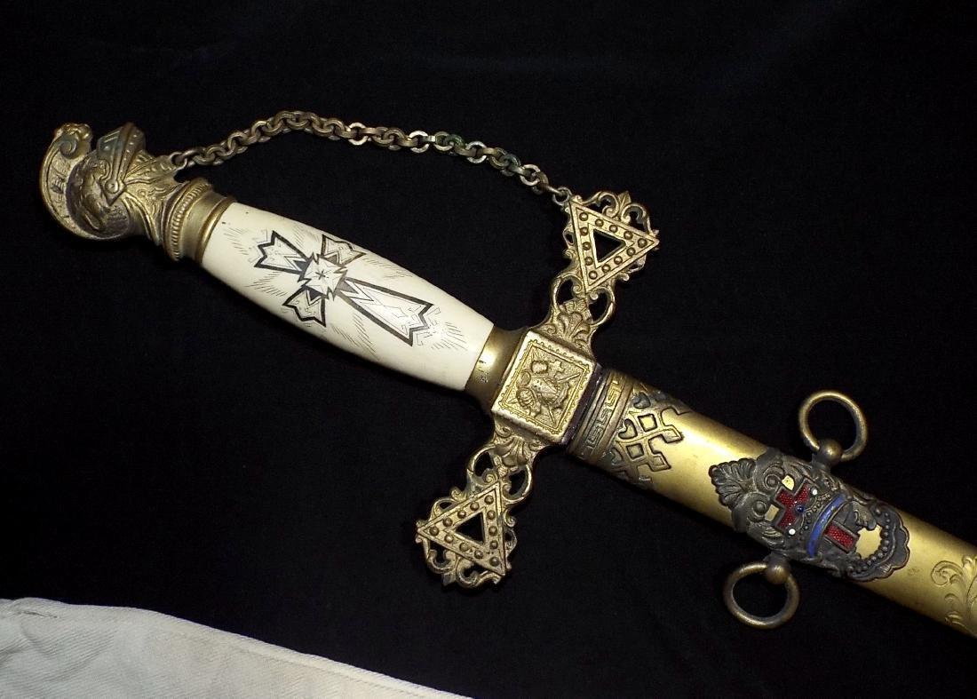 Antique Masonic Knights Templar Ceremonial Sword