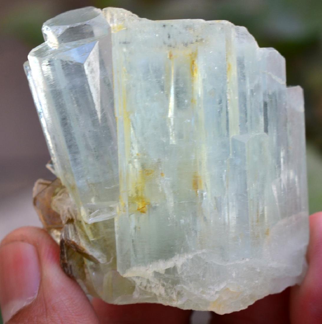 Natural Terminated Aquamarine Crystal With Mica