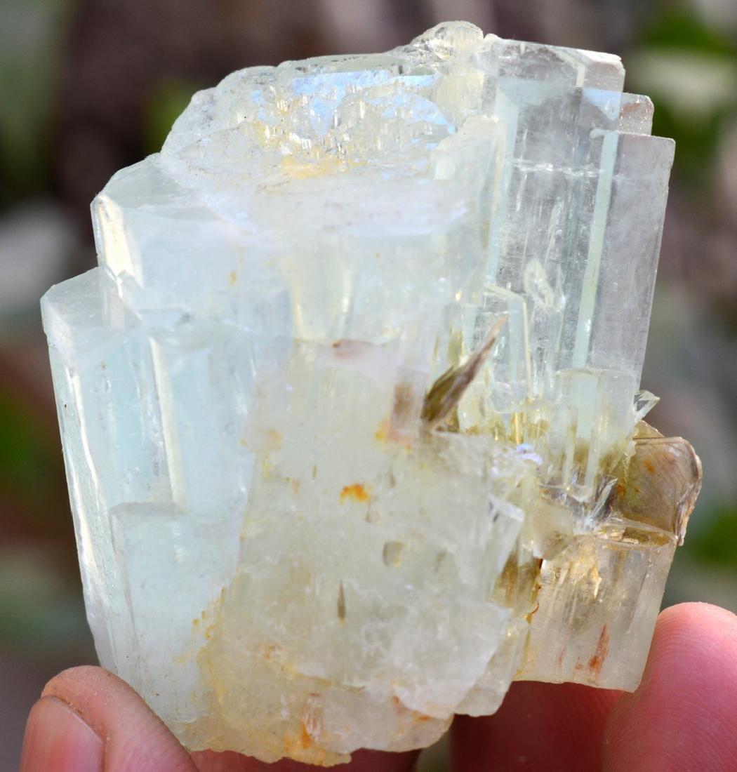 Natural Terminated Aquamarine Crystal With Mica - 2