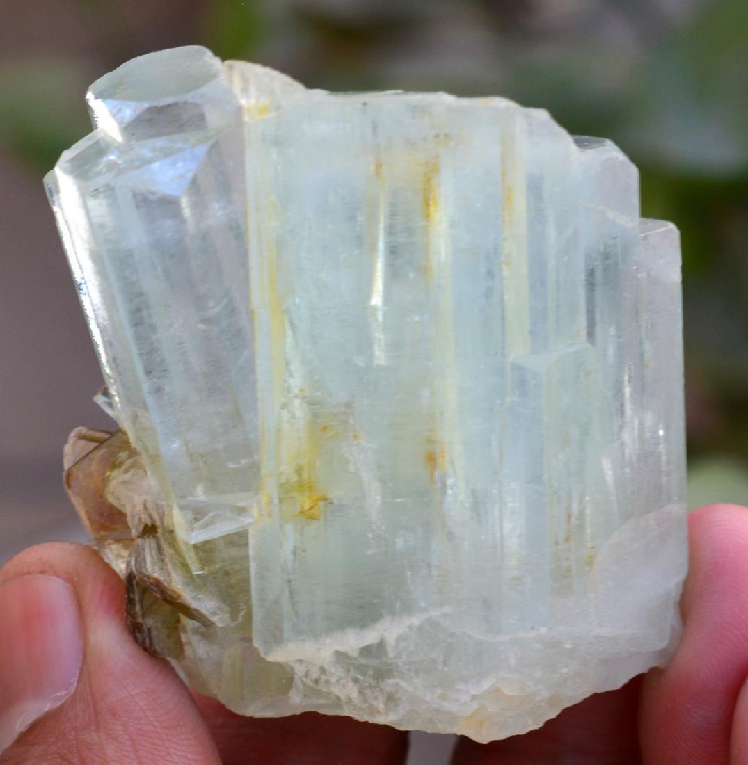 Natural Terminated Aquamarine Crystal With Mica - 4