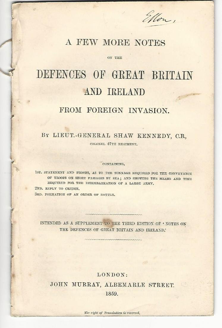 1859 Pamphlet Foreign Invasion Great Britain