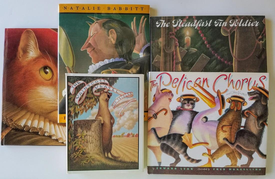 Fred Marcellino: 5 first editions, 3 signed.