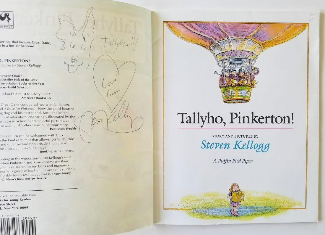 Kellogg. 6 books, all signed with a drawing. - 2