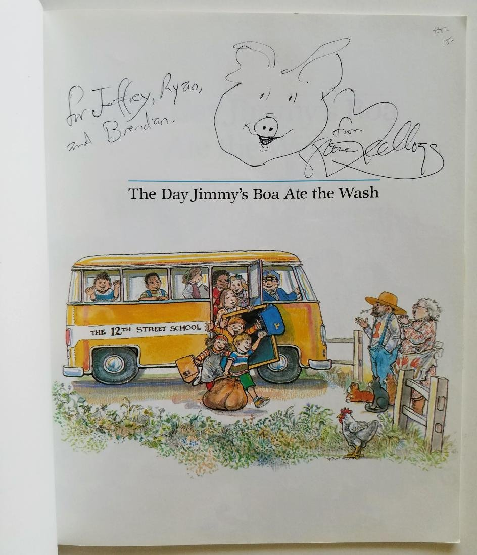 Kellogg. 6 books, all signed with a drawing. - 5