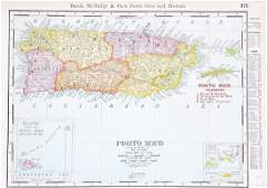 Rand-McNally: Puerto Rico Railroads Map