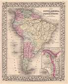 Mitchell: South America with Panama Canal Inset
