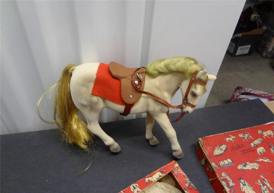 Steha Alles Aus Gum Toy Made in Germany Flocked Horse