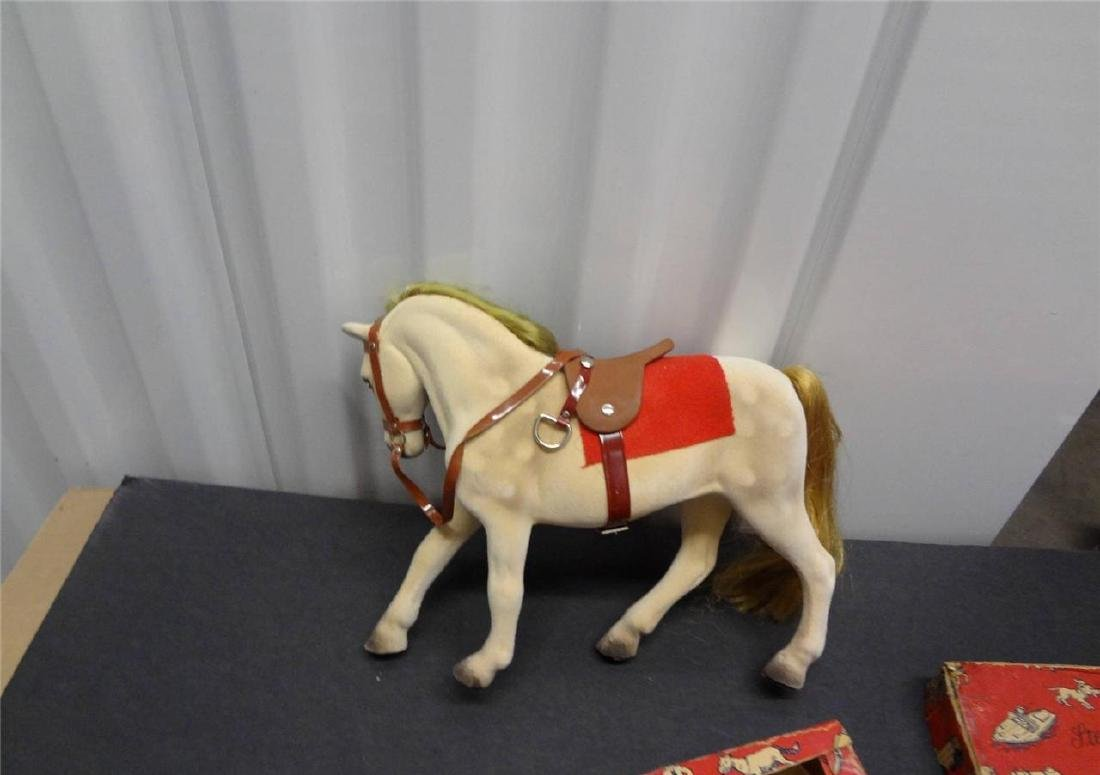 Steha Alles Aus Gum Toy Made in Germany Flocked Horse - 2