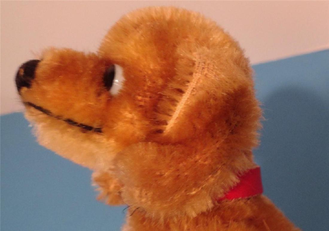 "Steiff Small Hexie Dachshund Dog 9cm 4"" Blown Glass"