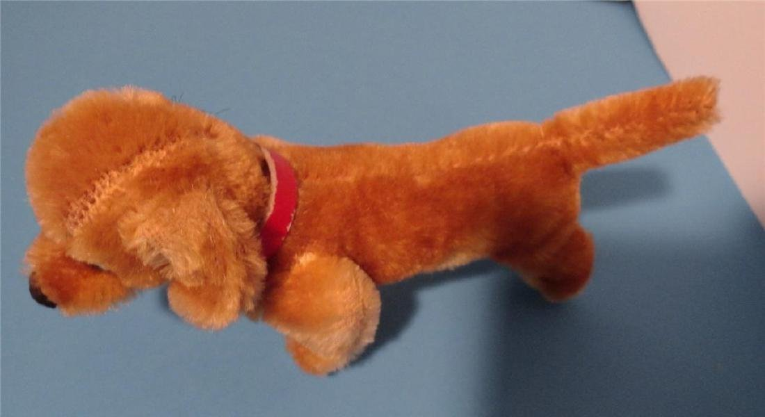 "Steiff Small Hexie Dachshund Dog 9cm 4"" Blown Glass - 5"