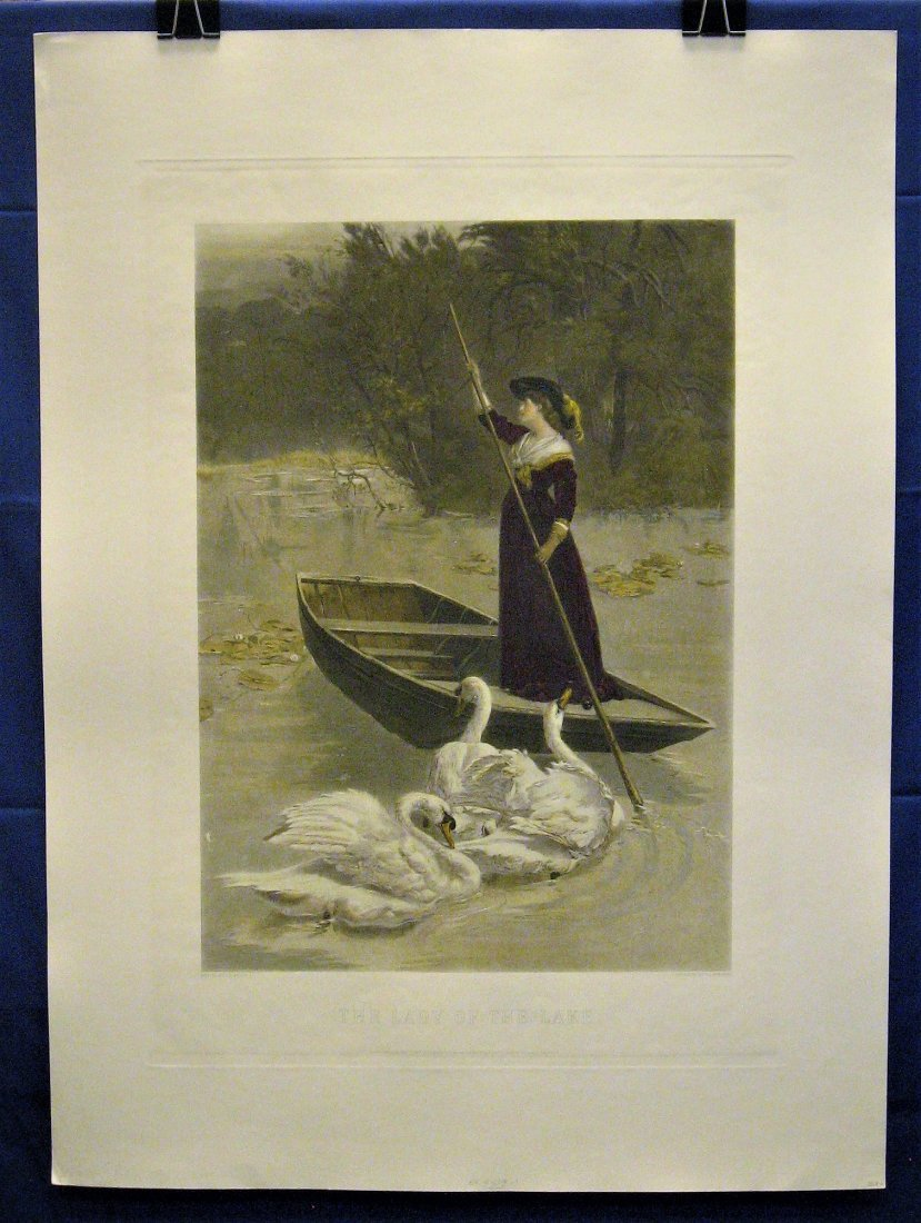 The Lady of the Lake Antique Print S. E. Waller