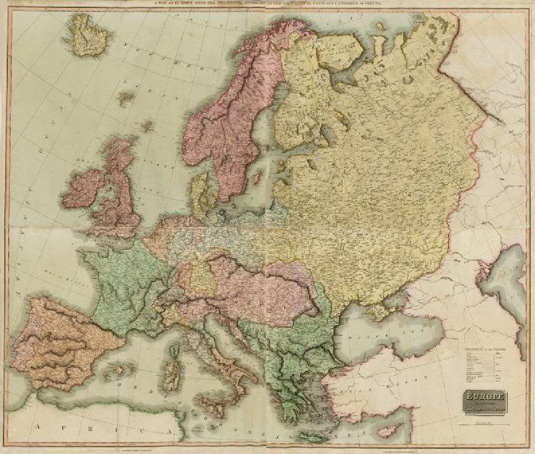 Europe after the Congress of Vienna. 4 sheets.