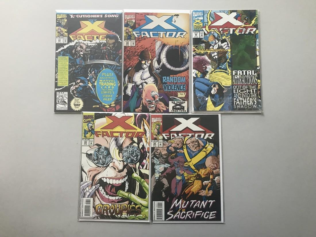 Lot of 9 X-Factor (1986 1st Series) from 85-106 VF Very