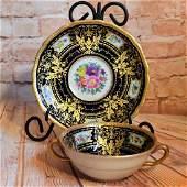 Black Knight CM Hutschenreuther Bouillon Soup Bowl And