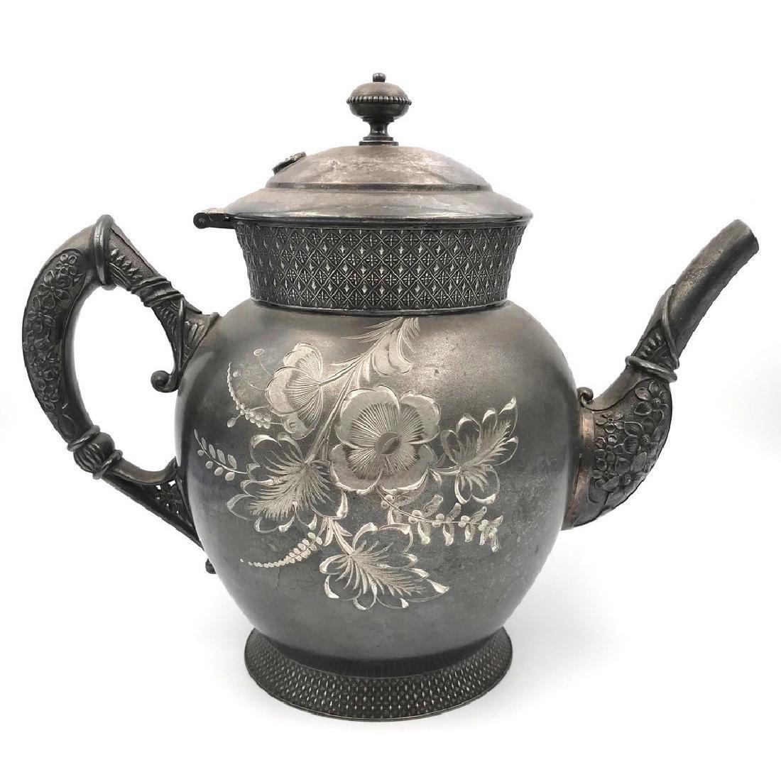 Victorian tin tea pot