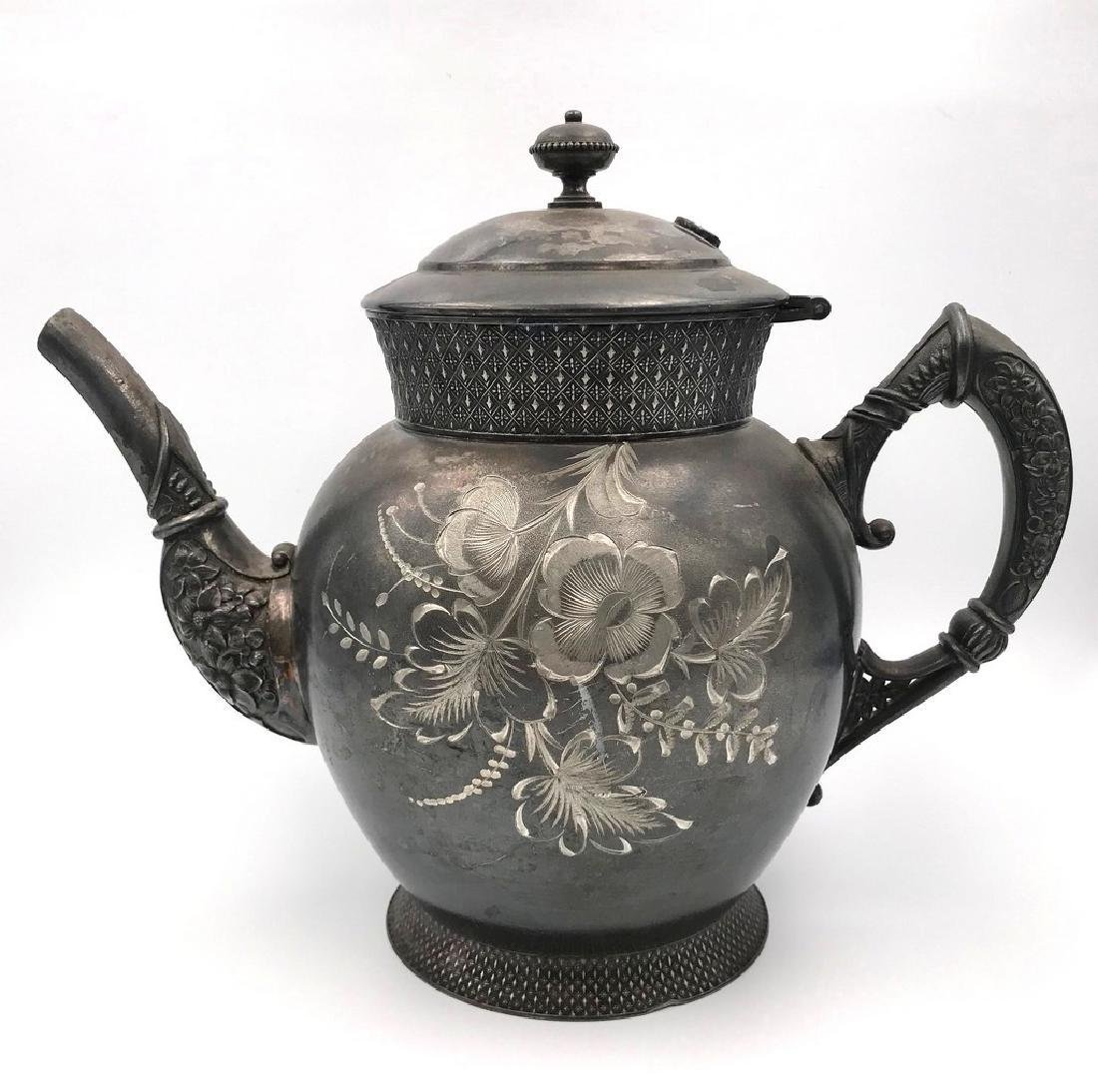 Victorian tin tea pot - 4