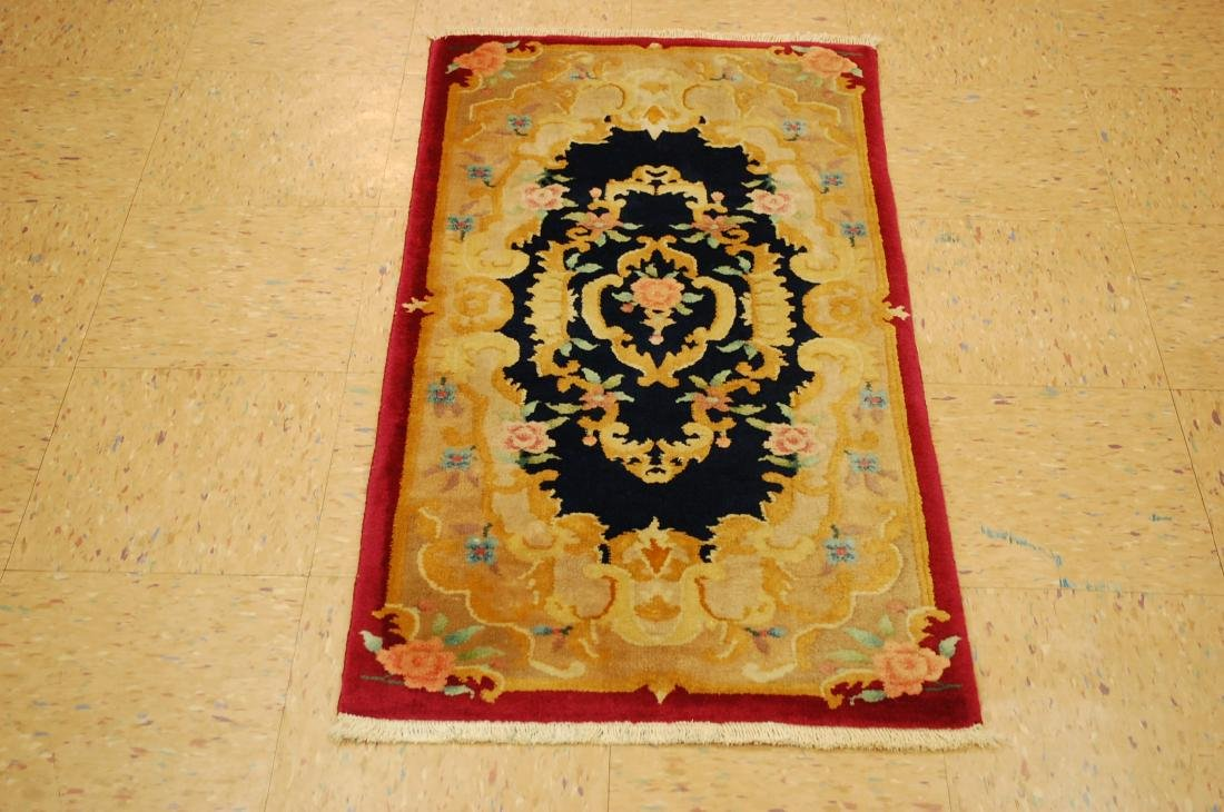 1930 Antique Art Deco Walter Nichols Chinese Rug 2x3.10
