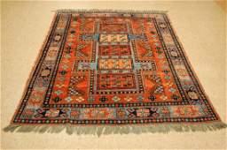 Caucasian Shirvan Kazak Design Afghan Chobi Rug 5x6.4
