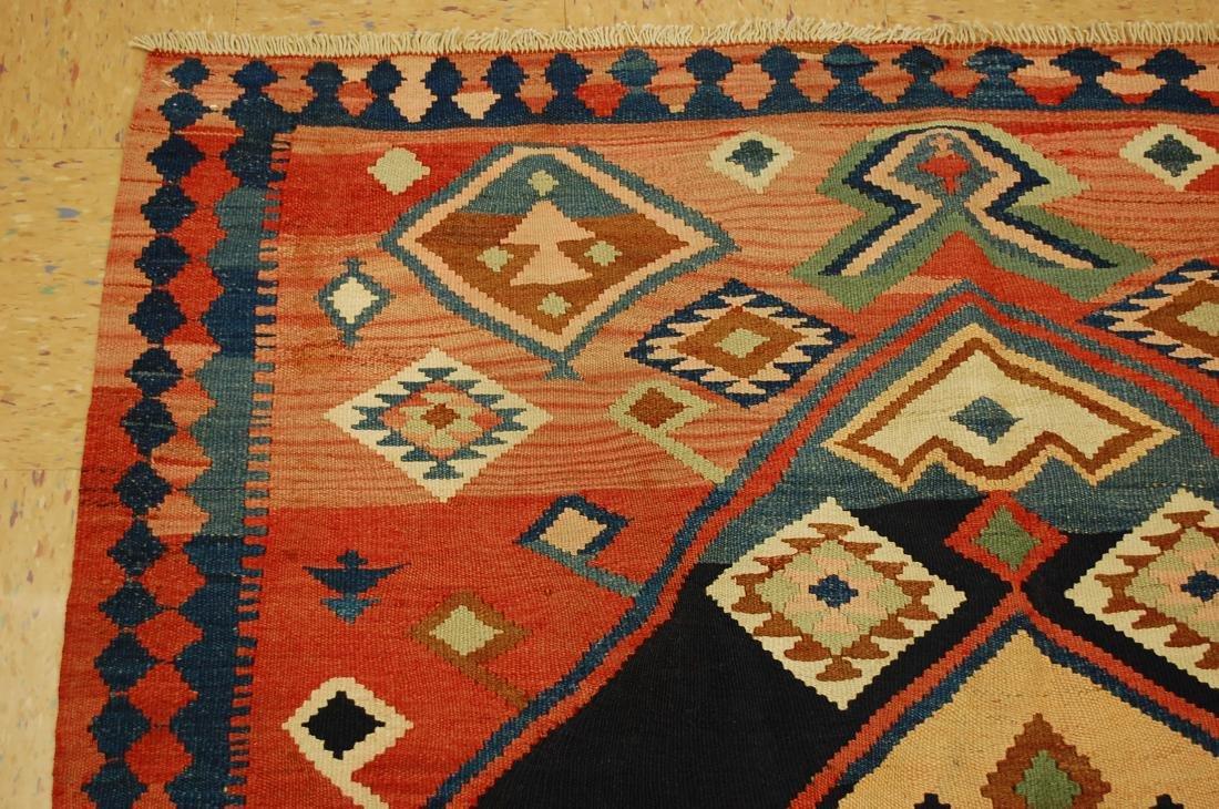 1910 Antique Rare Caucasian Prayer Kilim Rug 5.2x11.3 - 4