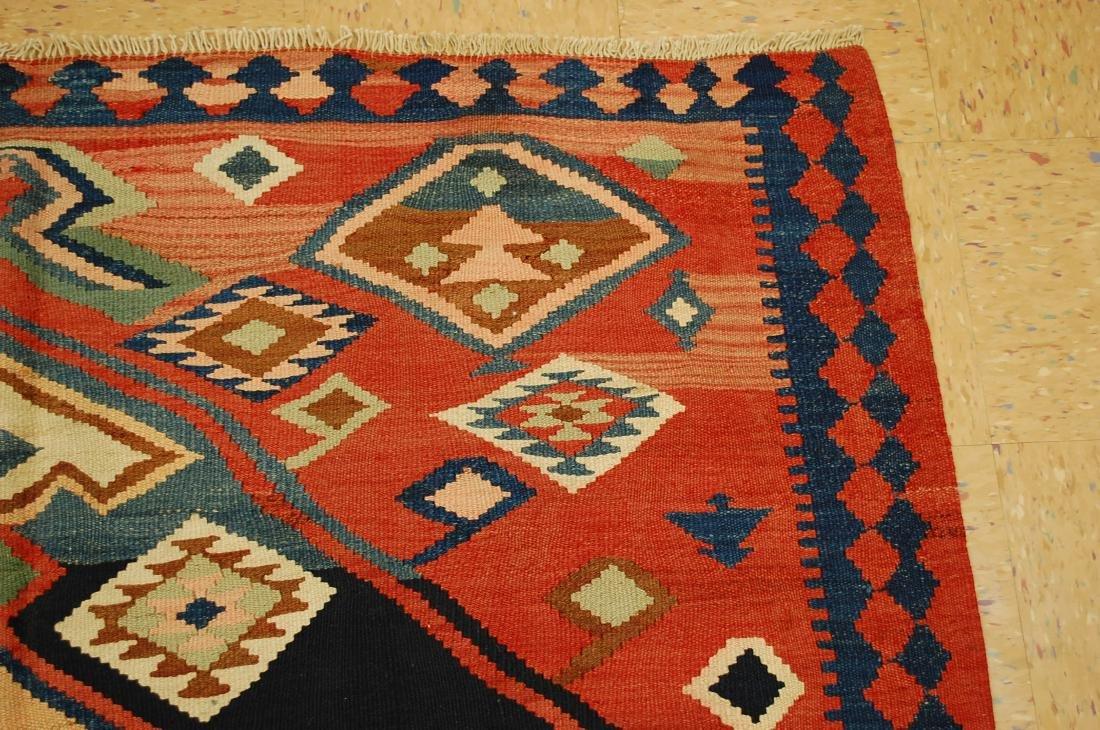1910 Antique Rare Caucasian Prayer Kilim Rug 5.2x11.3 - 5
