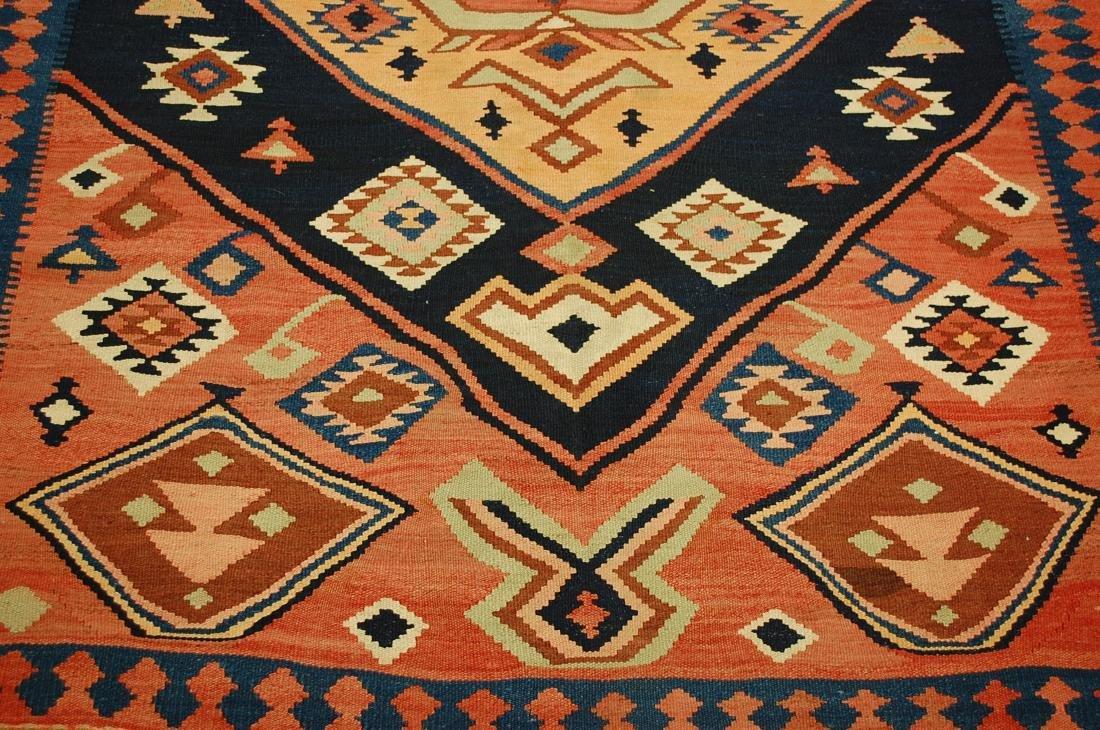 1910 Antique Rare Caucasian Prayer Kilim Rug 5.2x11.3 - 6