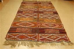1900 Antique Caucasian Soumak Kilim Rug 5.4x10.10