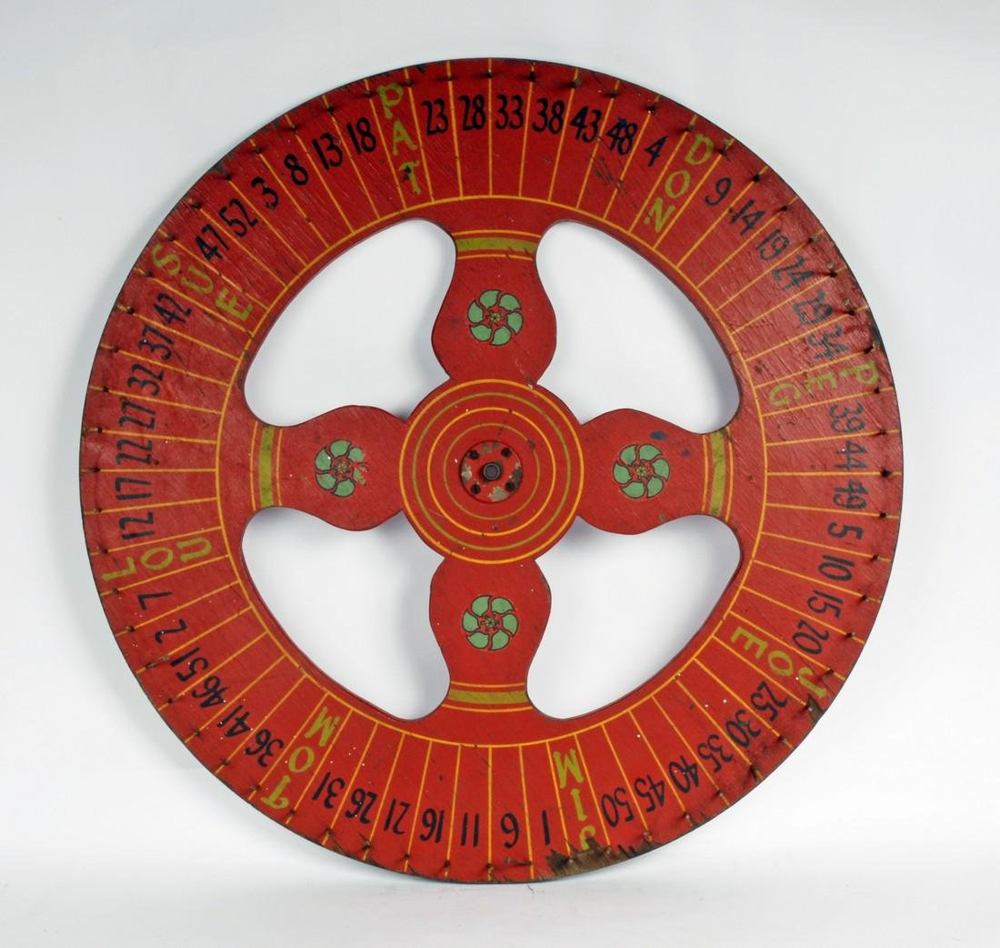 Painted Red Carnival Game of Chance Wheel