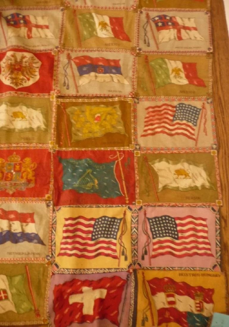 Cigar Flag Quilt Top 1915..nice collection of 72 flags - 6