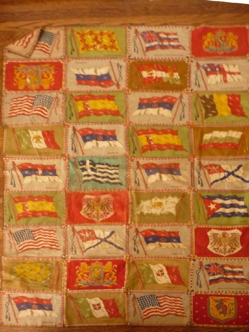 Cigar Flag Quilt Top 1915..nice collection of 72 flags - 7