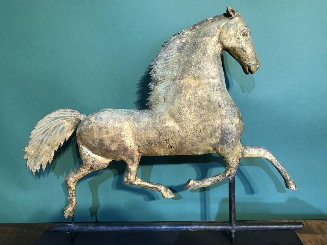 A.E. Jewell Black Hawk Horse Weathervane.