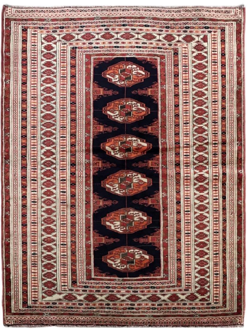 Handmade Turkeman Persian Throw Rug 3.5x4.5
