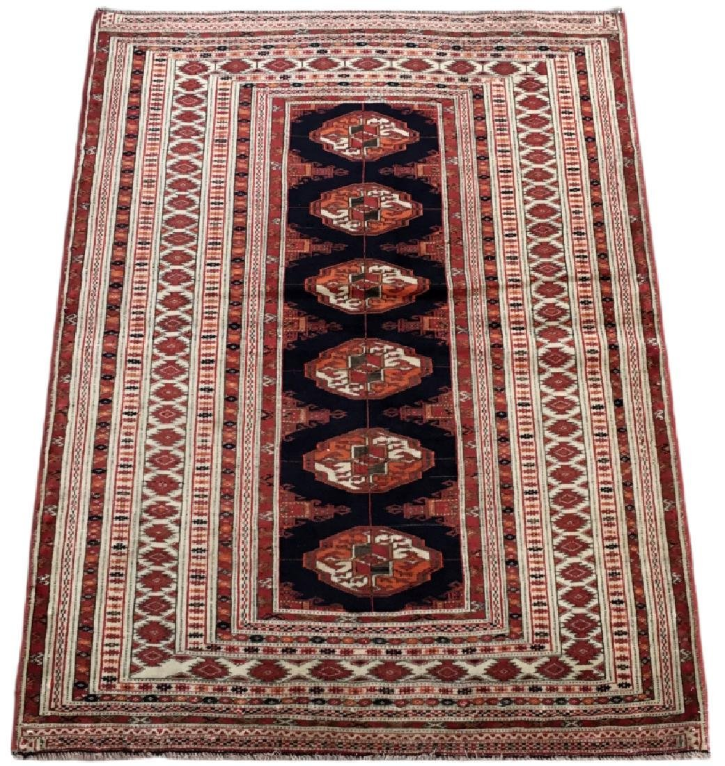 Handmade Turkeman Persian Throw Rug 3.5x4.5 - 2