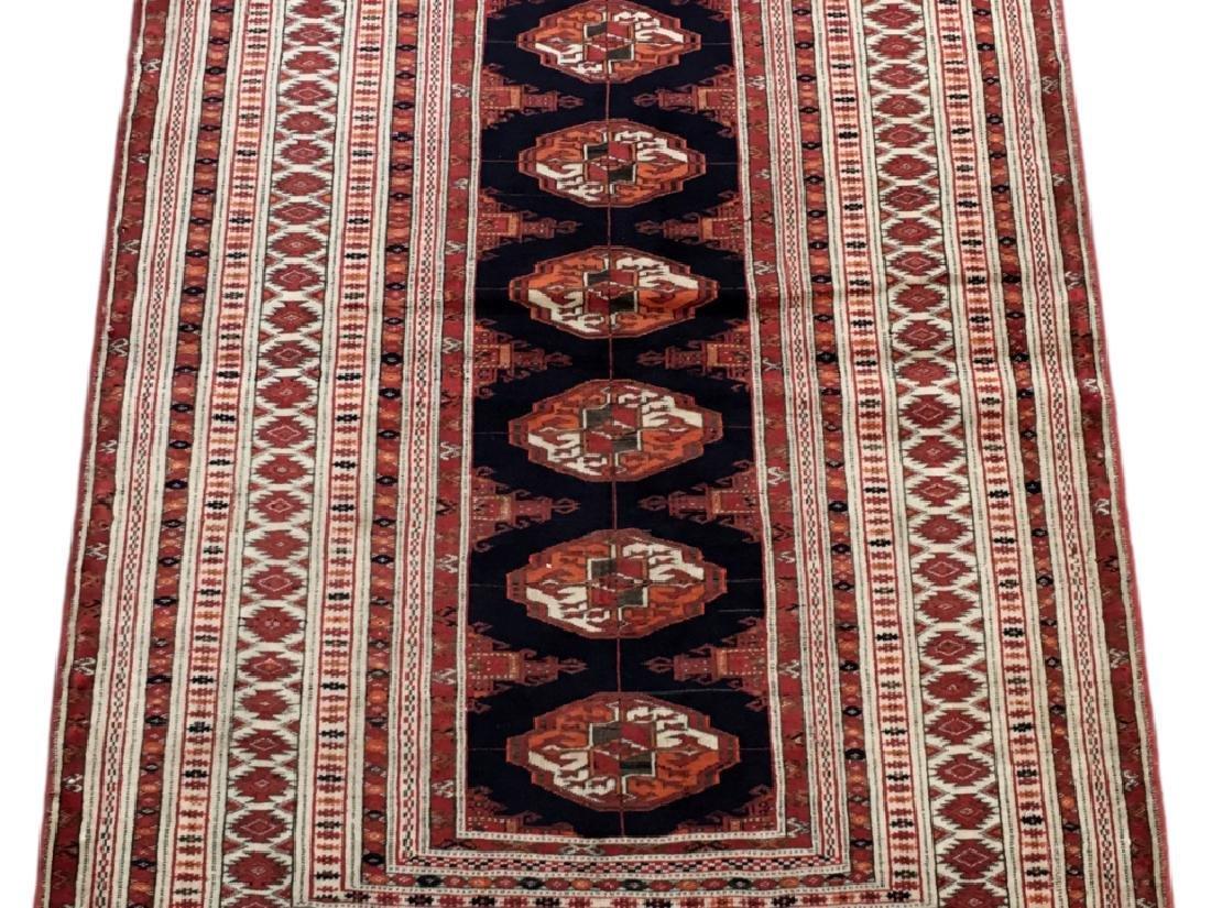 Handmade Turkeman Persian Throw Rug 3.5x4.5 - 3
