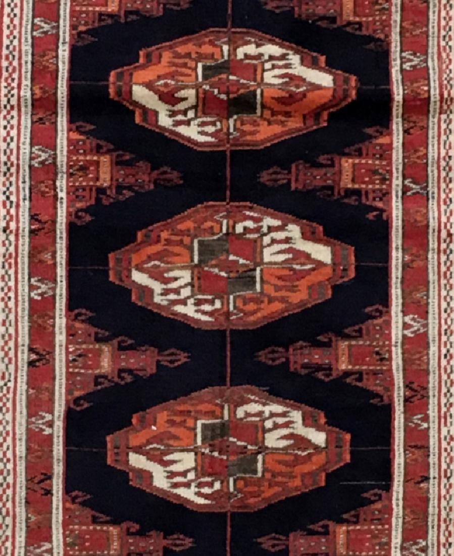 Handmade Turkeman Persian Throw Rug 3.5x4.5 - 4