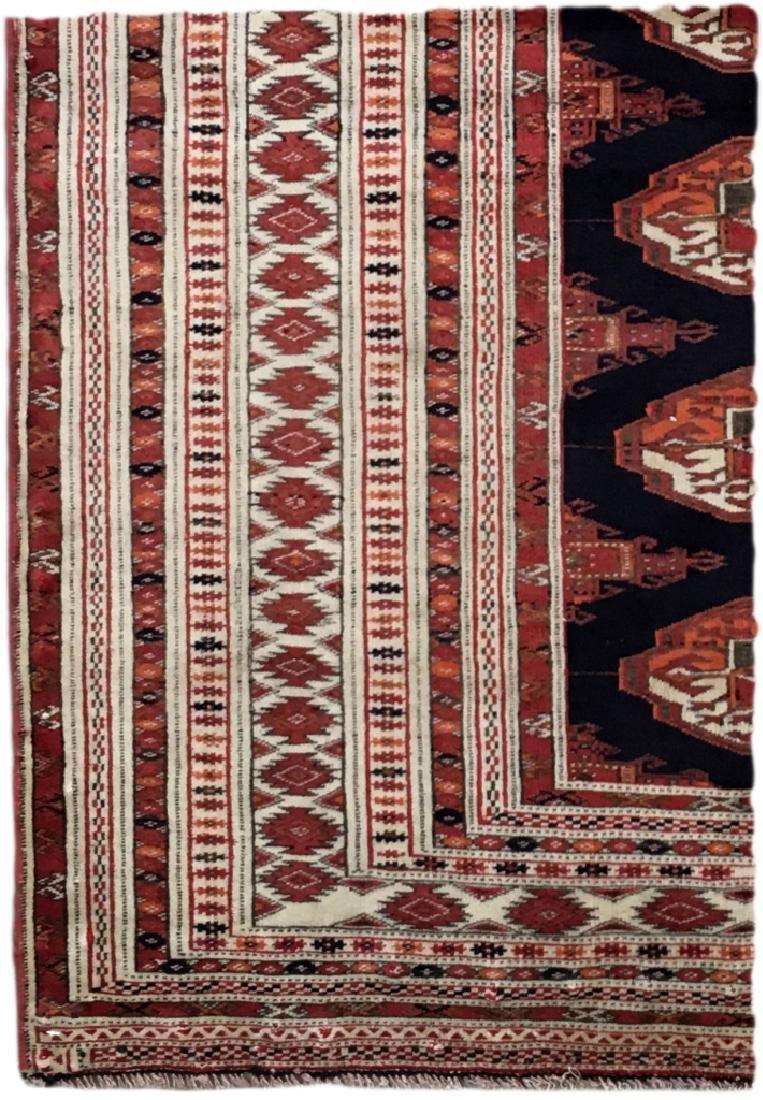 Handmade Turkeman Persian Throw Rug 3.5x4.5 - 5