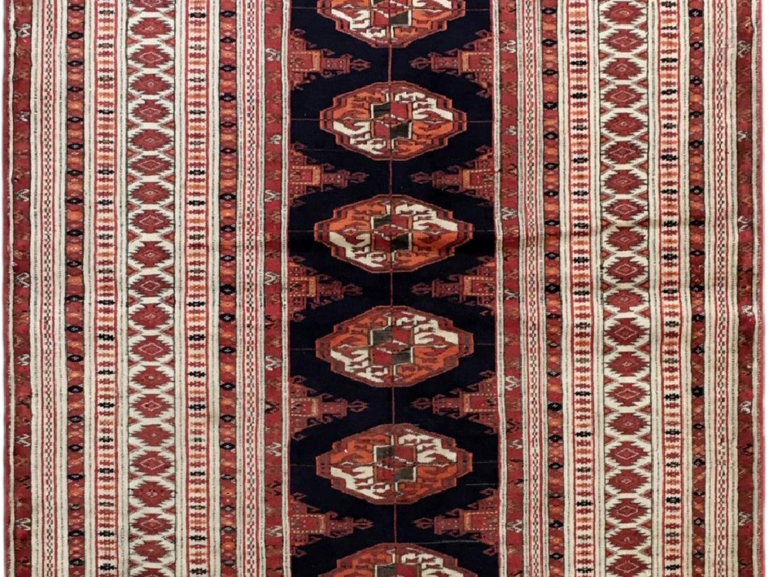 Handmade Turkeman Persian Throw Rug 3.5x4.5 - 6